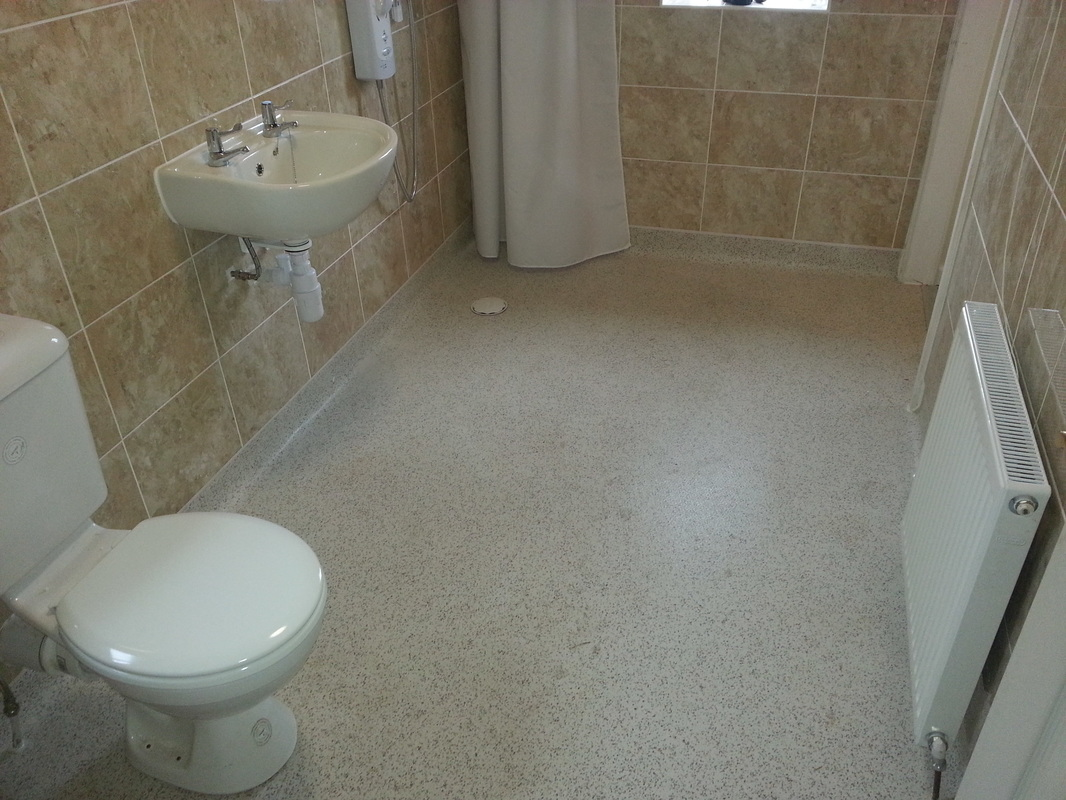 Tiling a wet room floor